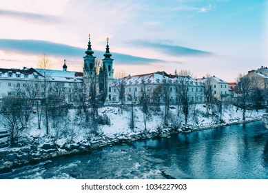 A Cathedral in Graz in Winter