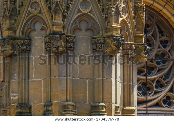 Cathedral in the historical city of Bayonne in France. Europe