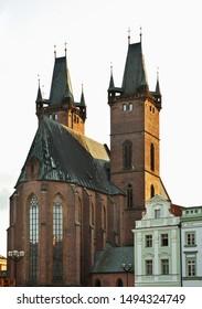 Cathedral of Holy Spirit at Large square (Velke namesti) in Hradec Kralove. Czech Republic
