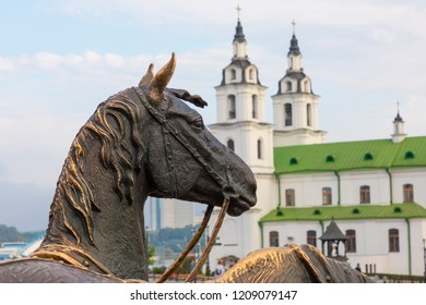 Cathedral of holy spirit in Minsk - Church Of Belarus And Symbol Of Capital. Famous Landmark