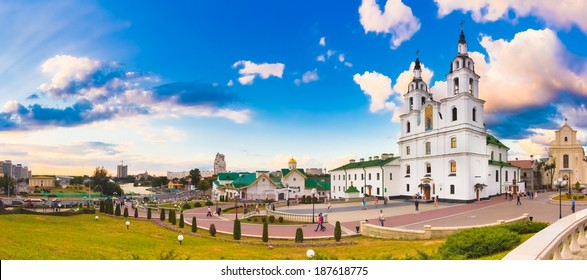 The cathedral of Holy Spirit in Minsk - the main Orthodox church of Belarus (Minsk)