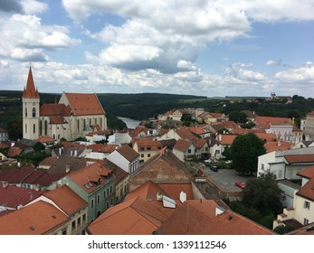 Cathedral, houses and castle in Znojmo, Czech Republic