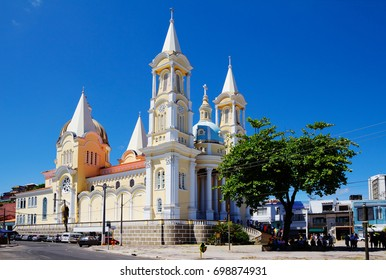 Cathedral in Ilheus. Brazil.  The Church was built in the seventeenth century and dedicated to the patron Ilheus, St. George.