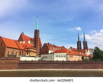 The Cathedral Island (Ostrów Tumski) in Wroclaw, Poland, Europe
