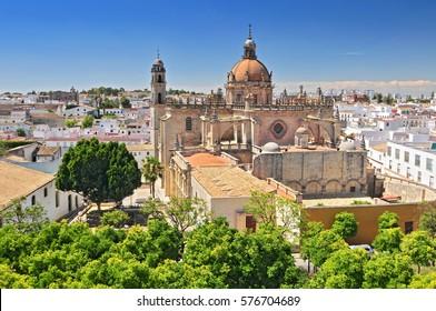 The Cathedral in Jerez de la Frontera, Cadiz Province, Andalucia, Spain.