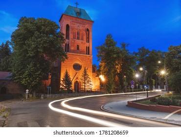 Cathedral in Kamien Pomorski. Kamien Pomorski, West Pomerania, Poland.