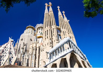 Cathedral of La Sagrada Familia designed by architect Antonio Gaudi, Catalonia, Spain