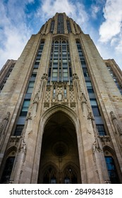 The Cathedral of Learning, at University of Pittsburgh, in Pittsburgh, Pennsylvania.