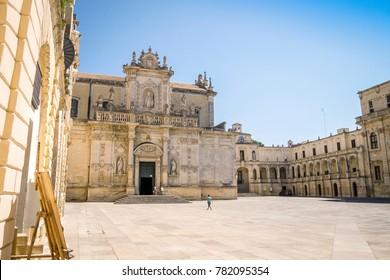 Cathedral of Lecce and Il Campanile Monument, Lecce, Puglia, Italy