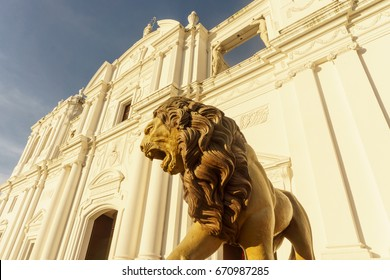 Cathedral of Leon city Nicaragua, touristic place in Nicaragua