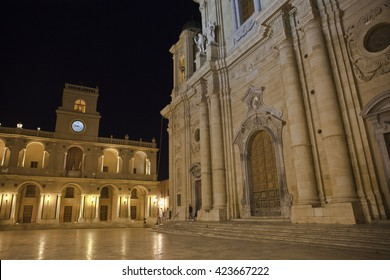 The Cathedral of Marsala at night