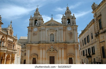 Cathedral of Mdina, the silent city, Malta