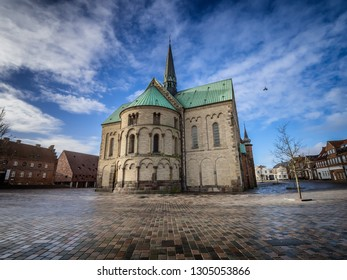 Cathedral in medieval city Ribe, Denmark