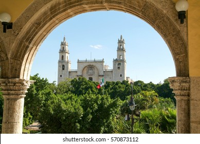 The cathedral of Merida on Yucatan, Mexico