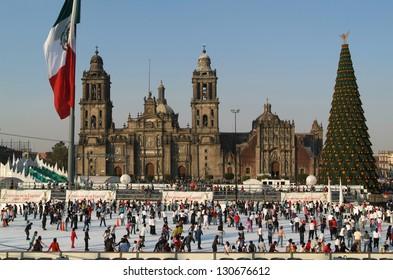 cathedral Metropolitana on Zocalo at Mexico City