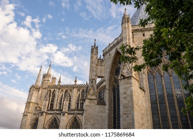 Cathedral and Metropolitical Church of Saint Peter in York, commonly known as York Minster, is the cathedral of York, England, and is one of the largest of its kind in Northern Europe. Photo taken Aug