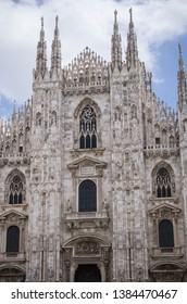 Cathedral in Milano facade 2019