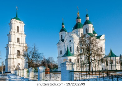 Cathedral of the Nativity of the Blessed Virgin in Ukrainian baroque style, Kozelets town, Chernigov province, Ukraine