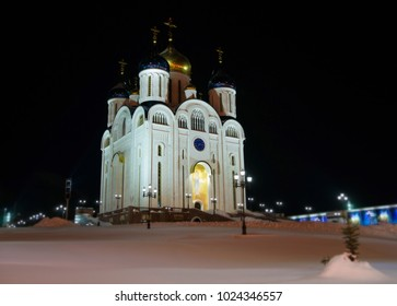 Cathedral of the Nativity. Yuzhno-Sakhalinsk. Night view.