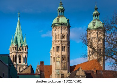 Cathedral of Naumburg in Germany on a sunny day in winter