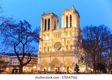 Cathedral of Notre dame de Paris, France.