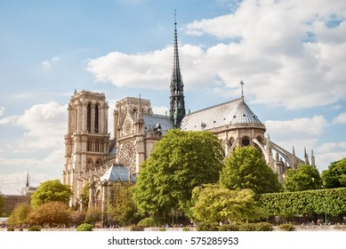 The Cathedral of Notre Dame de Paris, France, Spring