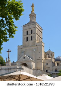 Cathedral Notre Dame des Doms at Avignon, a commune in south-eastern France in the department of Vaucluse on the left bank of the Rhône river, famous by his bridge