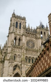 Cathedral Notre-Dame of Amiens, France, side view