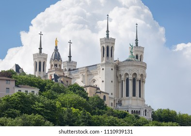 Cathedral Notre-Dame de Fourviere in Lyon, France.