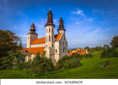 The cathedral of the old town of Visby in Gotland, Sweden