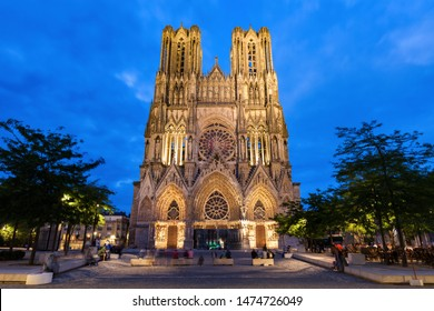 Cathedral of Our Lady of Reims. Reims, Grand Est, France.