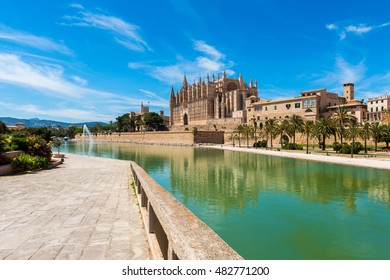 Cathedral of Palma de Majorca, Majorca, Balearic Islands, Spain.