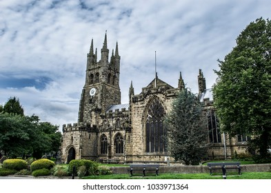 The 'Cathedral of the Peak' in Tideswell, Derbyshire, England