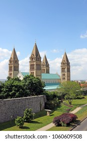 the Cathedral of Pecs towers Hungary