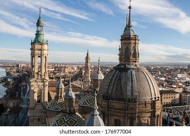 Cathedral Pilar in Zaragoza, Spain
