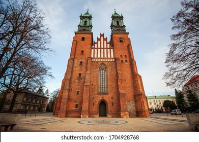 Cathedral in Poznan. Poland. Poznan Cathedral, Archcathedral Basilica of St. Peter and St. Paul