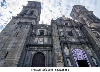 Cathedral in Puebla city, Mexico