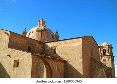 Cathedral of Puno, Peru or Catedral Basilica San Carlos Borromeo in Puno City of Peru