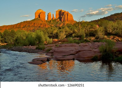 Cathedral Rock at dusk in Sedona Arizona
