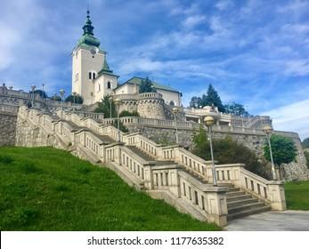 Cathedral of Ruzomberok town in northern Slovakia, in Liptov region