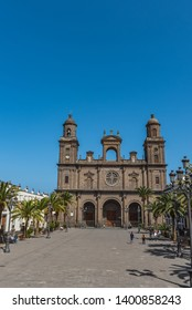 The Cathedral of Saint Ana situated in the old district Vegueta in Las Palmas de Gran Canaria, Spain. Vertical
