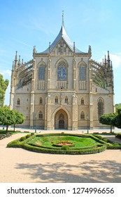 Cathedral of Saint Barbara in Kutna Hora, Czech Republic, Europe.