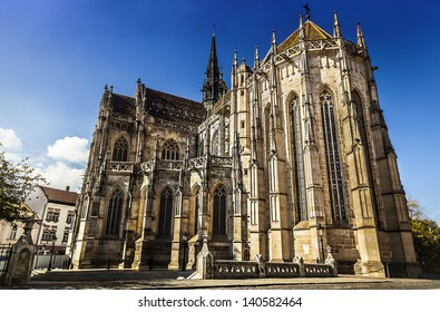 Cathedral of Saint Elizabeth and the main square in Kosice, Slovakia. European Capital of Culture