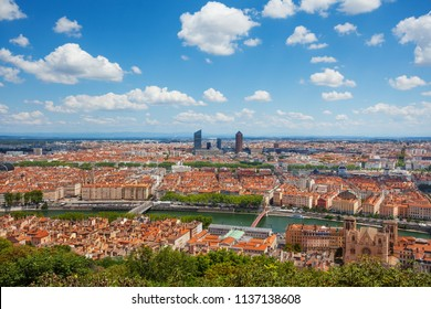 Cathedral Saint Jean Baptiste and the city of Lyon