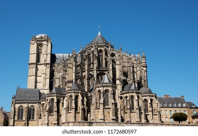 Cathedral of Saint Julian of Le Mans, France.