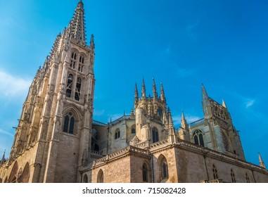 The Cathedral of Saint Mary of Burgos (Santa Maria de Burgos), Burgos, a UNESCO World Heritage site on the Way of Saint James (Camino de Santiago), Castilla y Leon, Spain