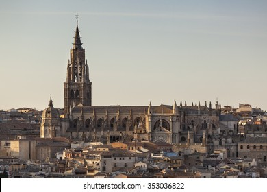 Cathedral of Saint Mary in medieval town of Toledo, Spain