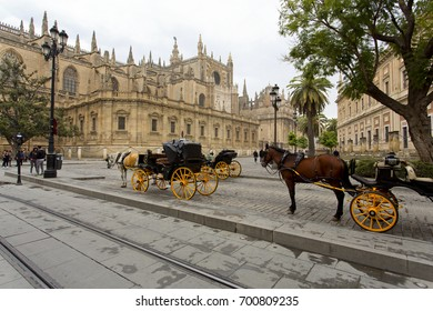The Cathedral of Saint Mary of the See in Seville, Andalusia, Spain