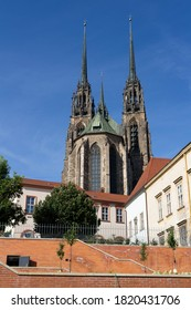 Cathedral of Saint Peter and Paul (Katedrala svateho Petra a Pavla), Petrov, Brno, Czech Republic / Czechia - historical religious and sacral building made in gothic revival architecture style. - Shutterstock ID 1820431706