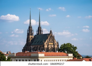 Cathedral of Saint Peter and Paul or Katedrala Svateho Petra a Pavla in Brno, Moravia, Czech Republic in Gothic Revival Style - Shutterstock ID 1860090217